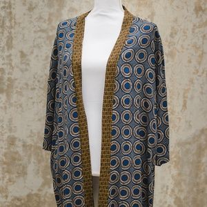 H&M Blue & Gold Patterned Kimono